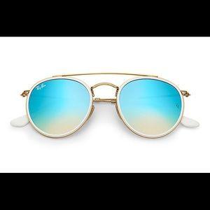 NWOT Ray-Ban Round Double Bridge Sunglasses